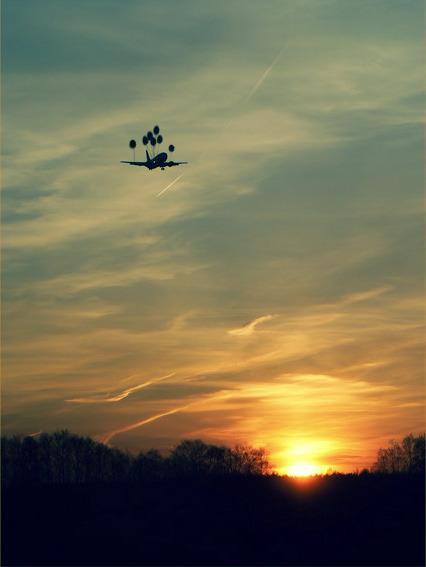 E Se aviões voassem com balões