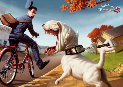 Cachorros odeiam carteiros